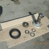 Output shaft, bearing, washers and nut