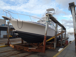 36 foot power boat -- Bertram
