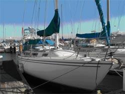 30 foot sailboat -- Catalina