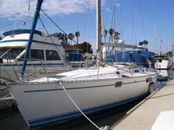 45 foot sailboat -- Benneteau