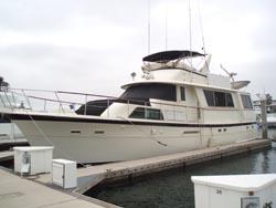 60 foot power boat -- Hatteras