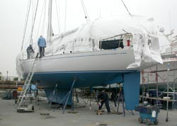 60 foot sailboat -- Swan