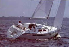 30 foot sailboat -- Hunter