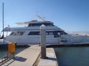 79 foot power boat -- Johnson