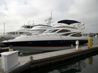 71 foot power boat -- Sunseeker